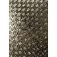Adhésif décoratif pour meuble Metallique - 150 x 45 cm - Gris alu