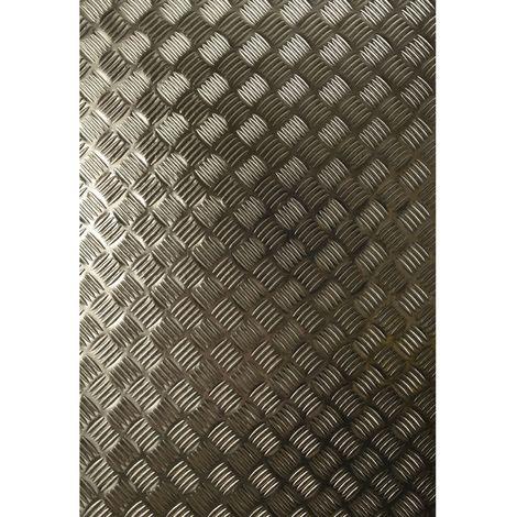Adhésif décoratif pour meuble Metallique - 150 x 67 cm - Gris alu - Gris