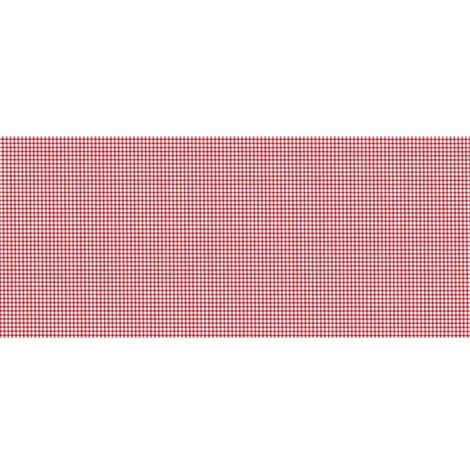 Adhésif décoratif pour meuble vintage effet Vichy - 200 x 45 cm - Rouge - Rouge
