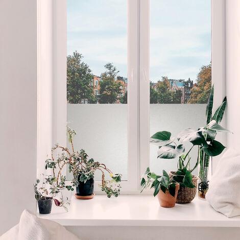 Adhésif décoratif pour vitre Basic opaque blanc 200 x 45 cm uni
