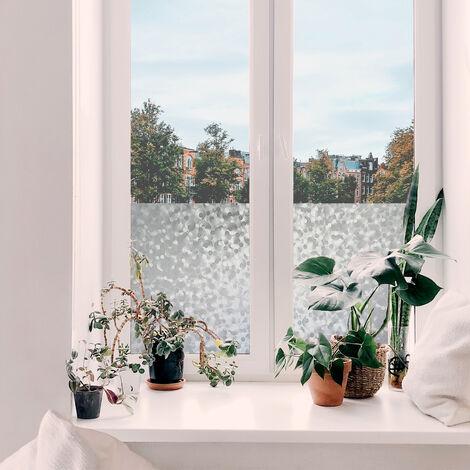 Adhésif décoratif pour vitre Bulles opaque 200 x 45cm Blanc