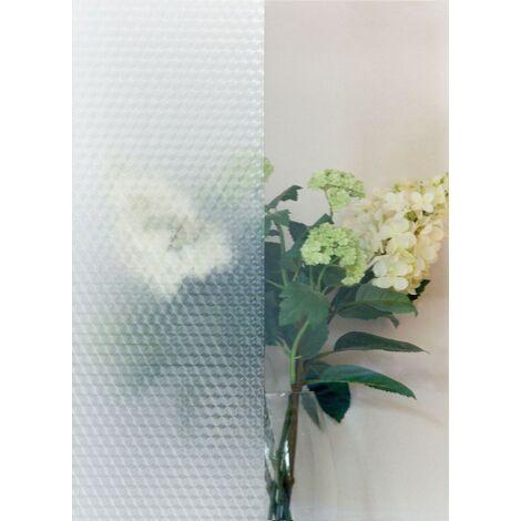 Adhésif décoratif pour vitre Cricle opaque blanc 200 x 45 cm cercles