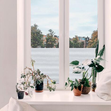 Adhésif décoratif pour vitre Cuir opaque 200 x 45cm Blanc
