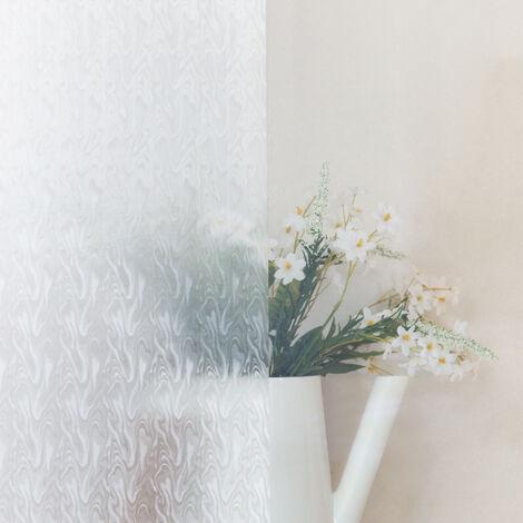 Adhésif décoratif pour vitre Fumée opaque 210 x 90cm Blanc