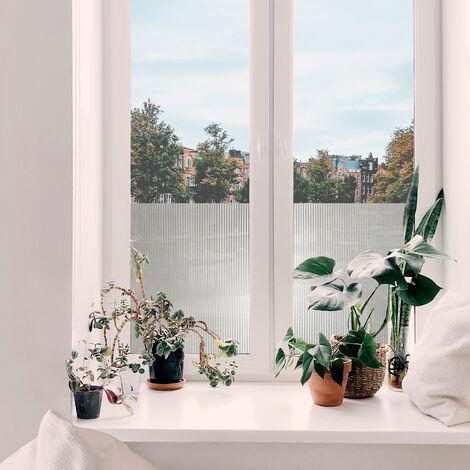 Adhésif décoratif pour vitre Lines opaque blanc 200 x 45 cm rayures