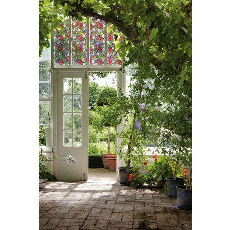 Adhésif décoratif pour vitre Madeira multicolore 200 x 45 cm fleurs