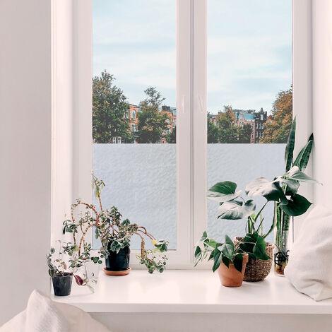 Adhésif décoratif pour vitre Nuages opaque 200 x 67,5cm Blanc