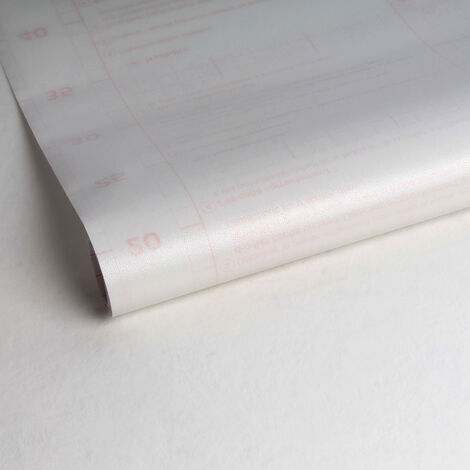 Adhésif décoratif pour vitre Papier de riz opaque 200 x 67,5cm Blanc