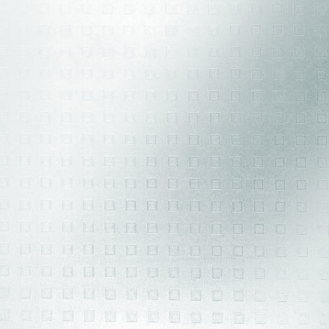 Adhésif décoratif pour vitre Square opaque blanc 200 x 67,5 cm carrés