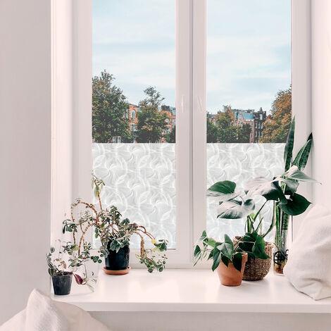Adhésif décoratif pour vitre Tara opaque blanc 200 x 67,5 cm volutes