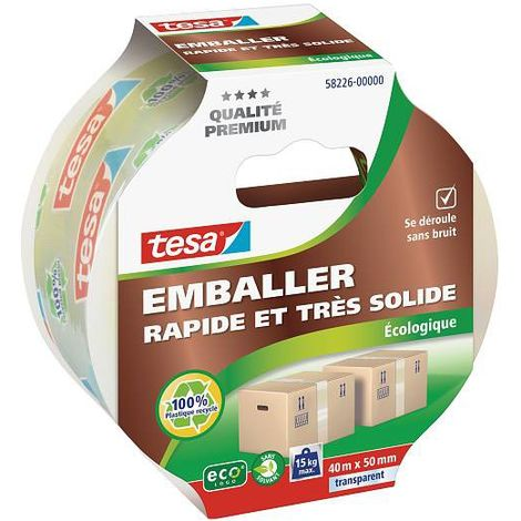Adhésif d'emballage cartons Ecologique 40m x 50mm