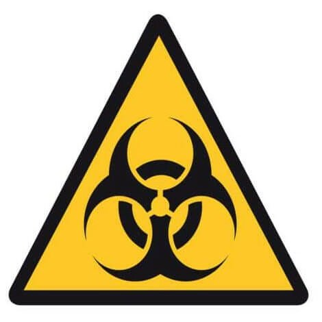 Adhésif polymère plastifié U.V danger risque biologique
