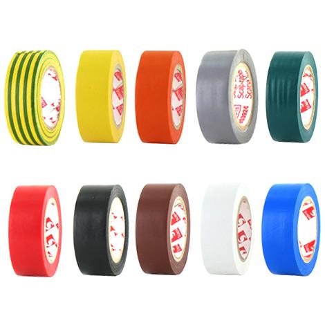 Adhésif PVC électrique 10 couleurs, les 10 rouleaux