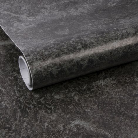 Adhésif rénovation & décoration Béton 200 x 45cm Noir