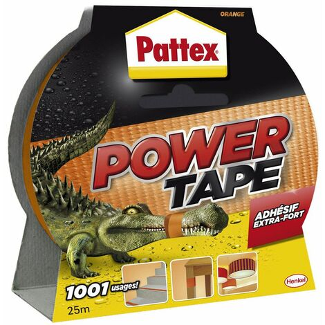 Adhésif super puissant power tape orange 25 x 50