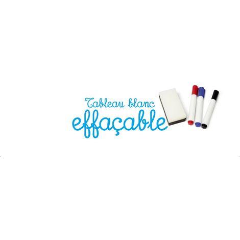 Adhésif Tableau effaçable - 150 x 45 cm - Blanc