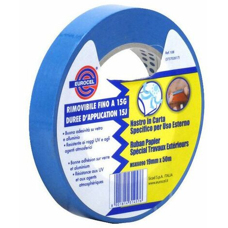 Adhesif Toile Masquage Bleu19x50 - EUROCEL