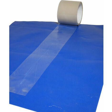 Adhésif transparent réparation bâches 200 mm x 20 m - Qualité professionnelle Tecplast