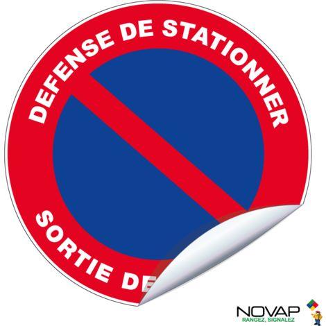 Adhésifs Défense de stationner - Sortie de secours - Novap