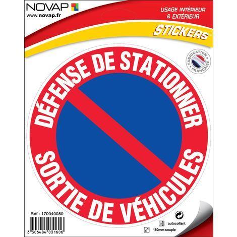 Adhésifs Défense de stationner - Sortie de voitures - Novap