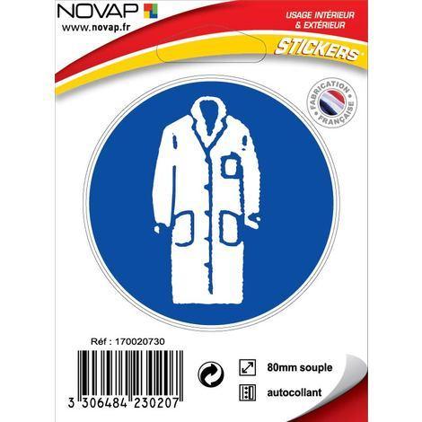 Adhésifs Obligation de porter une blouse - Novap
