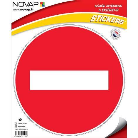 Adhésifs Sens interdit - Novap