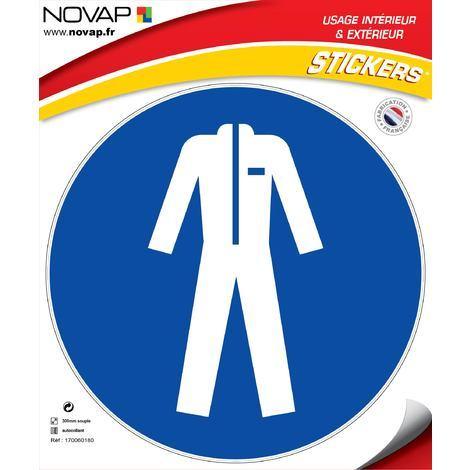 Adhésifs Vêtements de protection obligatoires - Novap
