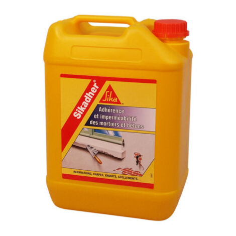 Adhesion and waterproofing additive for mortars - SIKA Sikadher - White - 2L