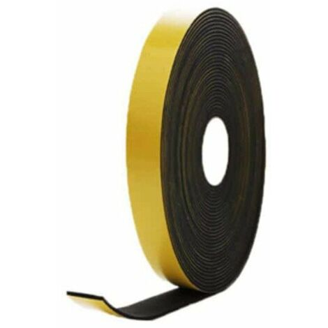adhesiva de espuma de goma EPDM negro 20x2mm 10 m de longitud