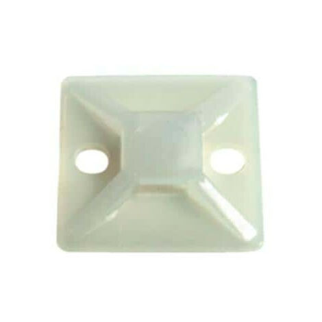 adhesive and screw base for cable tie Bizline 28x28 mm x100