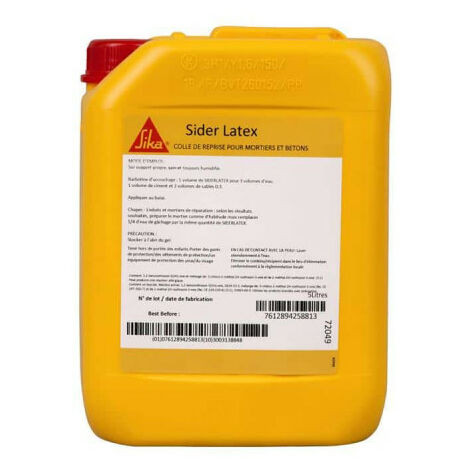 Adhesive for mortars and concretes - SIKA SiderLatex - Milky white - 5L