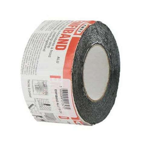 Adhesive tape sealing lead gray cold EMFI 10cm x 10m