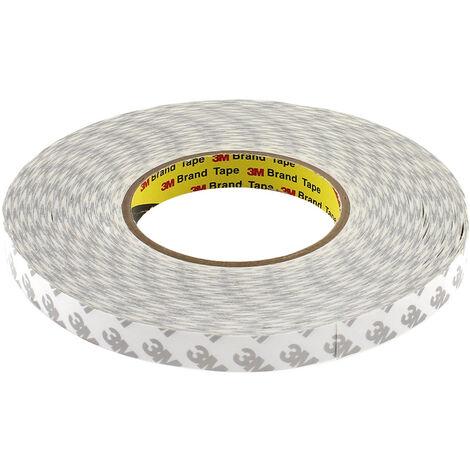 Adhesivo 3M 9080HL para tiras y perfiles LED, 15mm, rollo 50m