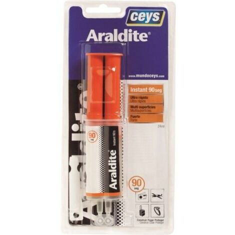 Adhesivo Bicomponente 24 Ml 90 Segundos Araldit Ceys