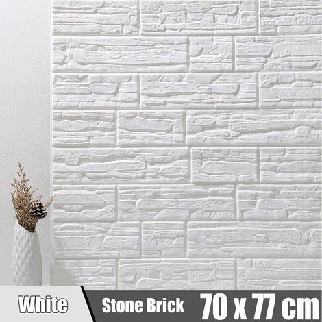 Adhesivo de pared 3D adhesivo de ladrillo decoración de pared -musgo -70 x 77 cm