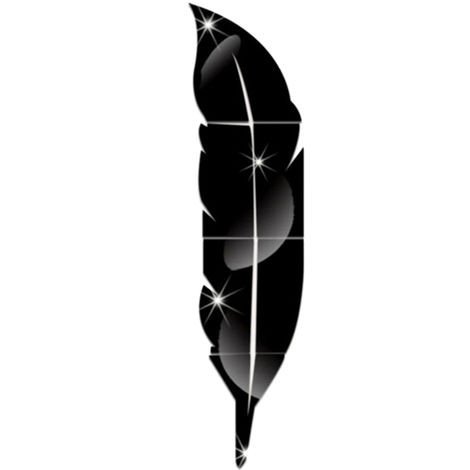 Adhesivo de pared estereo acrilico, Adhesivo decorativo espejo, Negro