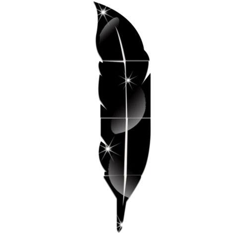 Adhesivo de pared estereo acrilico, Adhesivo decorativo espejo, Negro(no se puede enviar a Baleares)