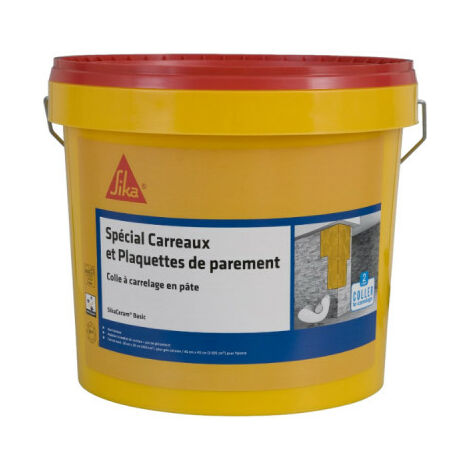 Adhesivo en pasta para baldosas y paramentos (D1-ET) - SIKA SikaCeram Basic - Marfil - 15kg
