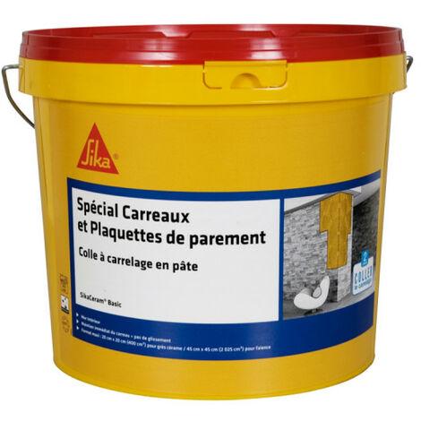 Adhesivo en pasta para baldosas y paramentos (D1-ET) - SIKA SikaCeram Basic - Marfil - 5kg - Beige