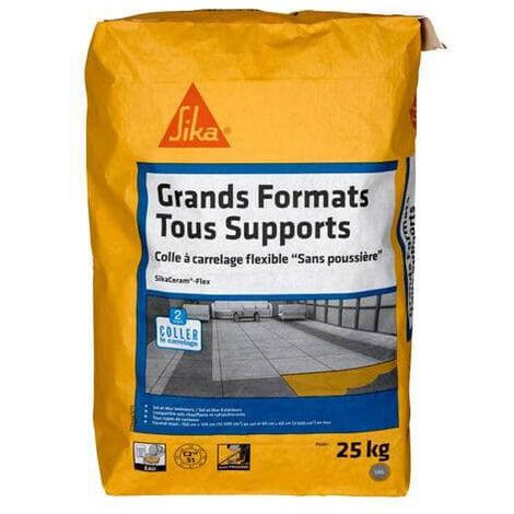 Adhesivo especial para baldosas de gran formato (C2S1-ET) - SIKA SikaCeram Flex - Gris - 25kg