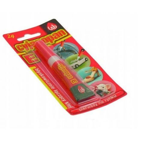 Adhesivo instantáneo cyanopane e flexible 2g 12 pc