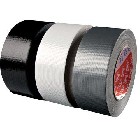 adhesivo lienzo, negro, 50 m x 48 mm (por 24)