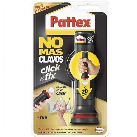 Adhesivo Pattex No Mas Clavos Click&Fix Blanco