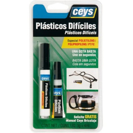 Adhesivo plasticos dificiles 3 g + 4 ml CEYS