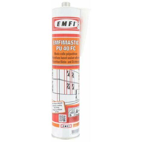 Adhesivo poliuretano EMFI PU 40 FC - blanco 300ml - Blanc