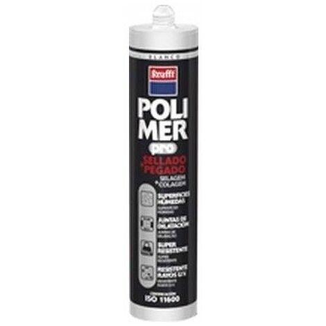 Adhesivo Poliuretano Modificado 300 Ml Blanco Polimer Cartucho Krafft