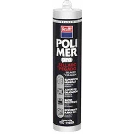 Adhesivo Poliuretano Modificado 300 Ml Gris Polimer Cartucho Krafft