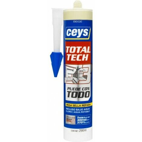 Adhesivo Sellador Polimero 290 Ml Bei Total Tech Xpress Ceys