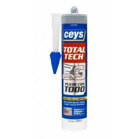 Adhesivo Sellador Polimero 290 Ml Gris Total Tech Xpress Ceys