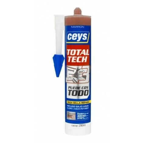 Adhesivo Sellador Polimero 290 Ml Marron Total Tech Xpress Ceys